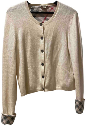 Burberry White Cashmere Knitwear