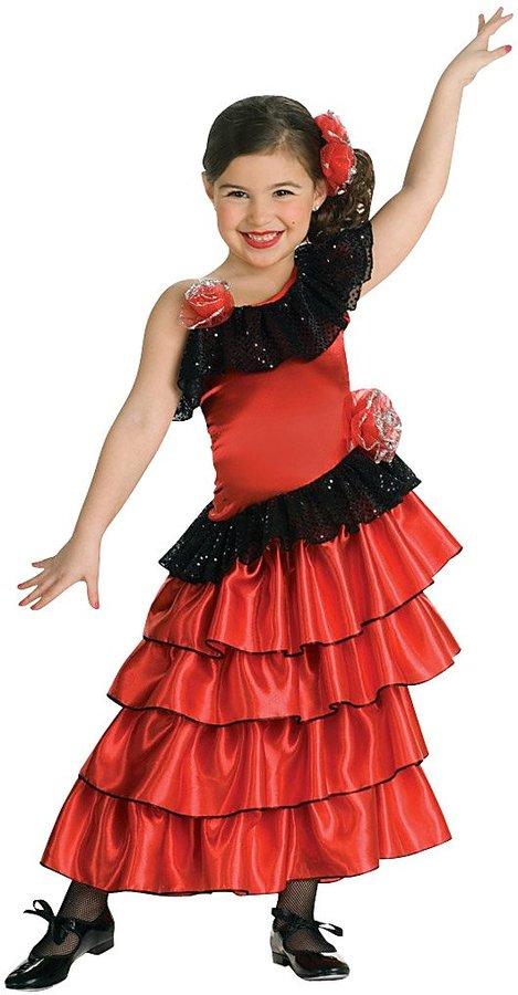 Rubie's Costume Co Childs Red/Black Spanish Princess Costume - Medium (8-10)