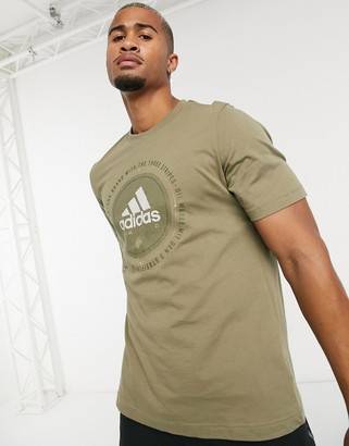 adidas T-Shirt In Khaki With Central Logo