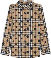 Burberry Polka-dot check cotton shirt 4-14 years