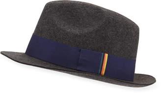 Paul Smith Men's Multi-Tab Wool Trilby Hat