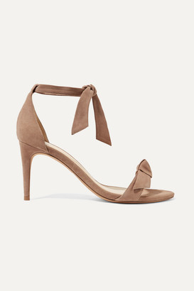 Alexandre Birman Clarita Bow-embellished Suede Sandals - Taupe