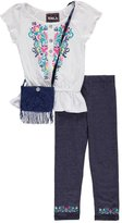 "RMLA Big Girls' ""Floral Crawl"" 2-Piece Outfit with Purse"