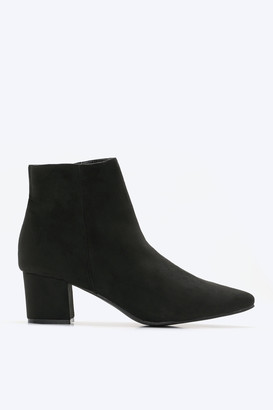 Ardene Faux Suede Booties - Shoes |