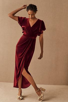 BHLDN Dover Velvet Dress By in Purple Size 0