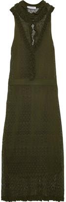 Altuzarra Ruffle-trimmed Crochet-knit Midi Dress