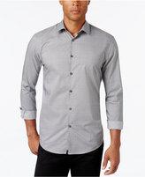 Alfani Collection Men's Textured Print Long-Sleeve Shirt, Classic Fit