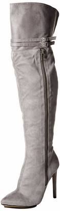 Michael Antonio Women's Katerina-sue Knee High Boot Grey 6 M US