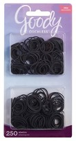 GOODY Ouchless Rubberband Black, 250 ct
