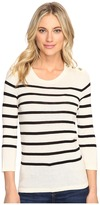 Kensie Cotton Blend Sweater with Stripes KS1K5674 Women's Sweater
