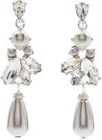 Jacques Vert Pearl Crystal Drop Earrings