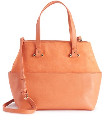 Lauren Conrad Drawstring Crossbody Bucket Bag - Mecca Orange