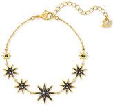 Swarovski Gold-Tone Firework Black Crystal Bracelet