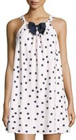 Kate Spade Dot-Print Flannel Chemise, Pink Shadow