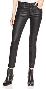 Current/Elliott Coated Stiletto Jeans in Black