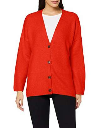 S'Oliver Women's 14.909.64.2328 Cardigan, (Red 3071), Large
