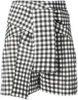 Silvia Tcherassi Sellia high waisted gingham shorts