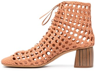 Forte Forte Perforated Leather Ankle Boots