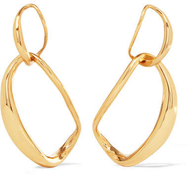 Dinosaur Designs Louise Olsen Large Liquid Chain Gold-plated Earrings