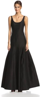 Halston Women's Jacquard Tulip Hem Evening Gown