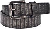 Sunny Belt Unisex Vintage Distressed Dark Stripes Faux Leather Belt