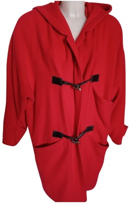 Gianni Versace Red Wool Coat for Women Vintage