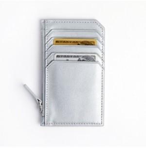 ROYCE New York Zippered Credit Card Case