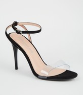 New Look Suedette Clear Strap Stiletto Heels