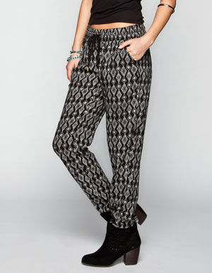 WYLDEHART Ethnic Print Womens Drawstring Pants
