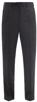 Caruso Pinstriped Wool Trousers - Grey
