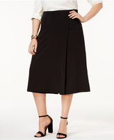 Love Scarlett Plus Size Faux-Wrap Culottes