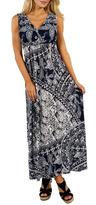 24/7 Comfort Apparel Seas Maxi Dress