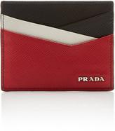 Prada Color-Block Textured-Leather Card Case