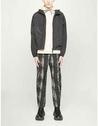 DSQUARED2 ICON-print relaxed-fit shell jacket