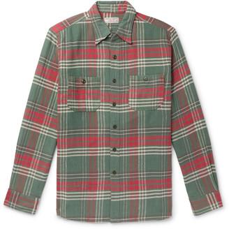 J.Crew Wallace & Barnes Checked Slub Cotton-Flannel Shirt
