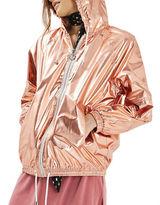 Topshop Metallic Hooded Windbreaker Jacket