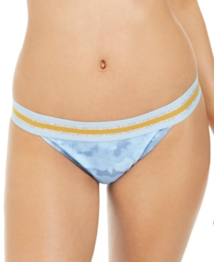 Macy's Hula Honey Juniors' Hana Beach Tie-Dye Printed Banded Bikini Bottoms, Created For Women's Swimsuit