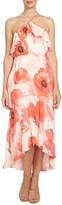 CeCe Women's Watercolor Poppy Tea Length Dress