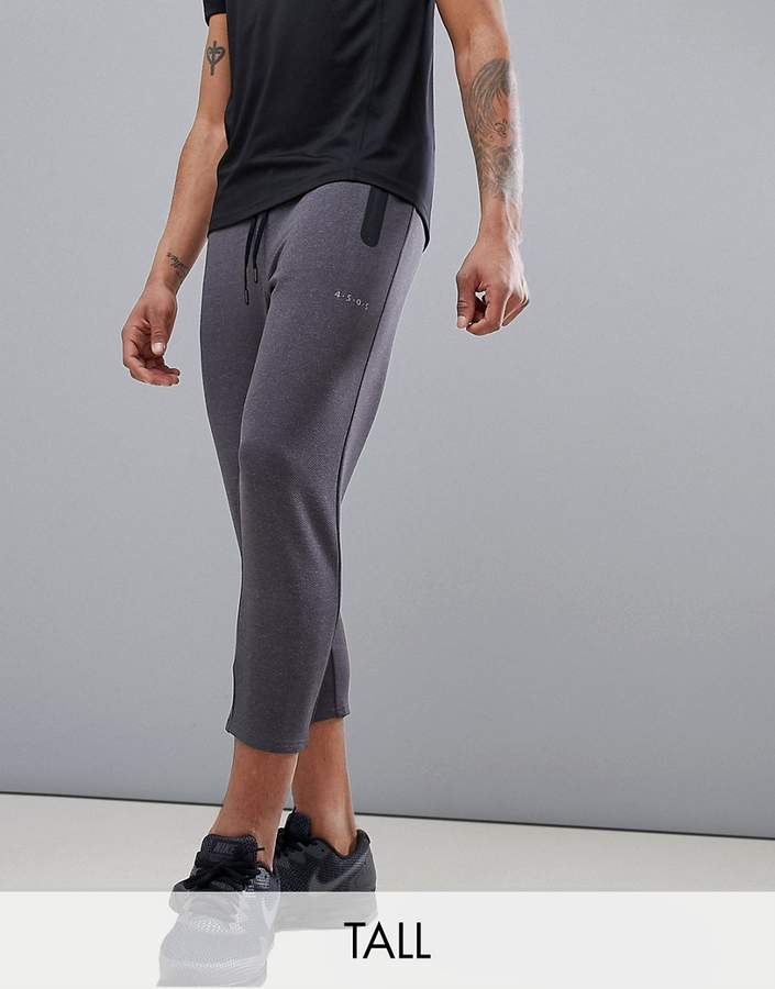 Asos 4505 Tall Skinny Tapered Training Joggers In Cropped Length