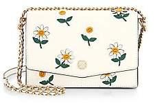Tory Burch Women's Mini Robinson Daisy Leather Shoulder Bag