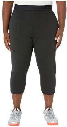 Nike Big Tall Dry Fleece Pants 3QT Hyper Dry (Black/Black) Men's Casual Pants