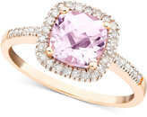 Pink Amethyst (1-1/3 ct. t.w.) and Diamond (1/5 ct. t.w.) Ring in 10k Rose Gold