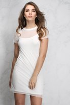 Rare White Short Sleeve T Shirt Dress