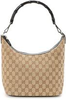 Gucci Pre-Owned GG Monogram Hobo Bag With Bamboo Handle