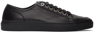 Brioni Black Leather Classic Sneakers