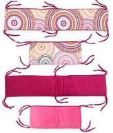 One Grace Place Sophia Lolita Crib Bumper, White, Pink, Berry, Orange, Black by