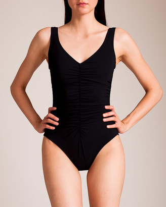 Karla Colletto Basic Ruched V Swimsuit