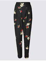 Twiggy Floral Print Crepe Trousers