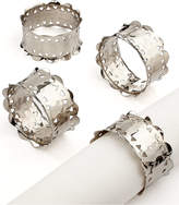 Excell Set of 4 Hammered Scallop Napkin Rings