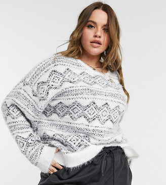 Wednesday's Girl Curve jumper in diamond knit